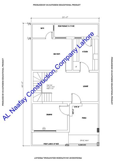 5 Marla House Design Plan Maps