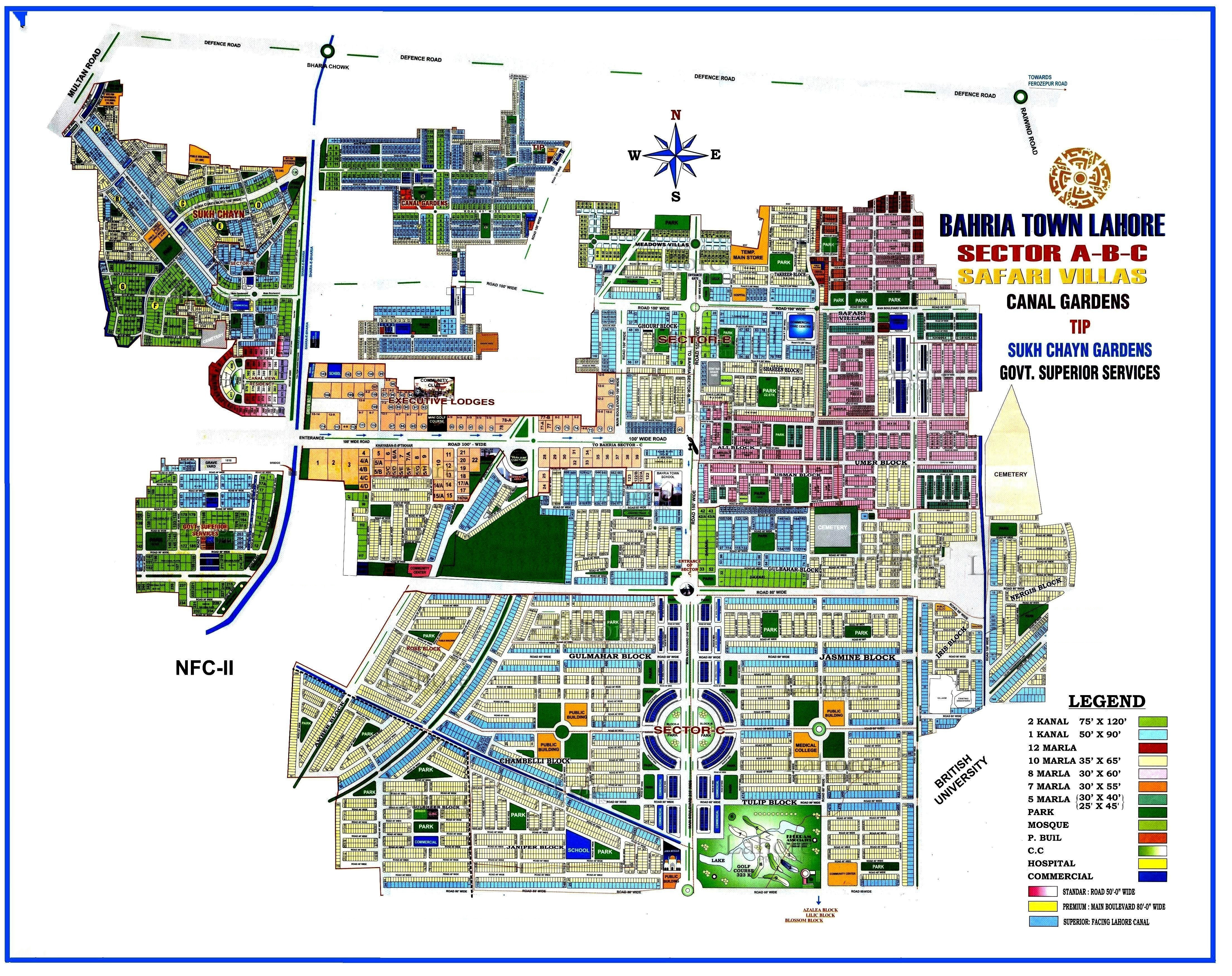 bahria town society map