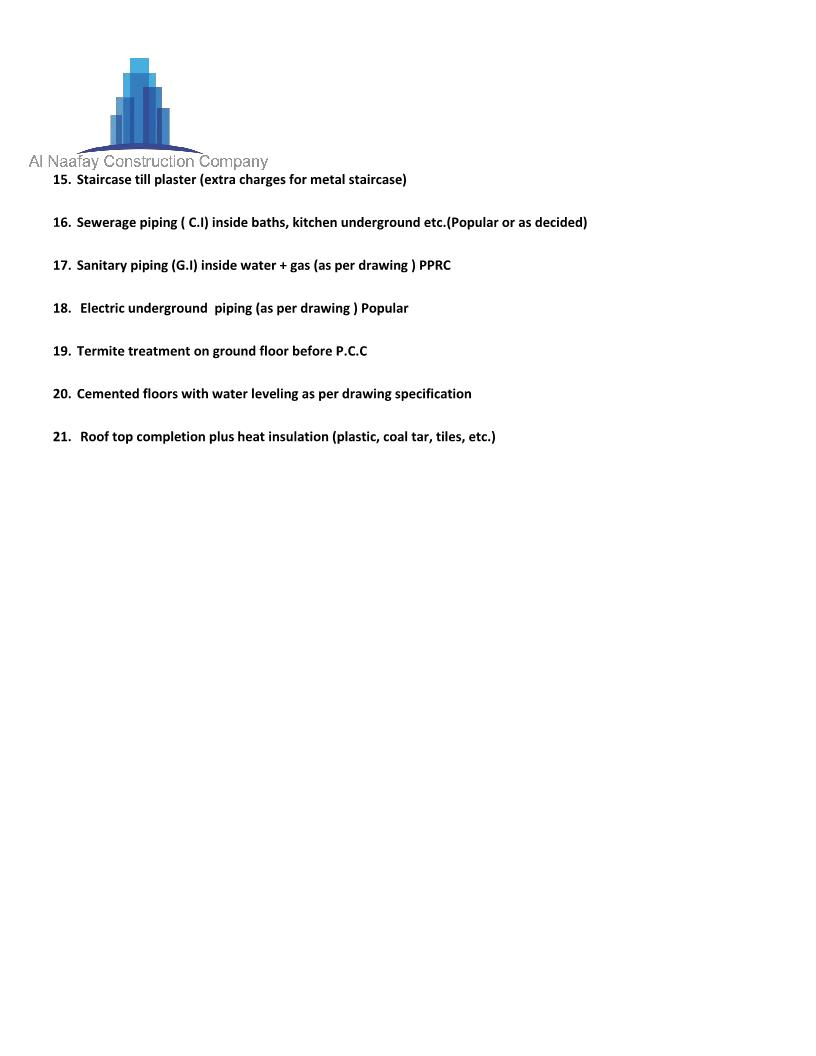 Grey Structure Checklist Construction
