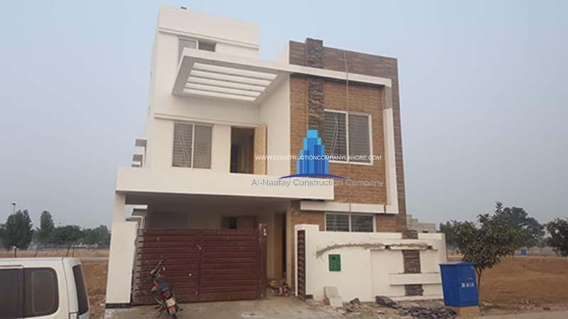 8 marla house construction bahria orchard