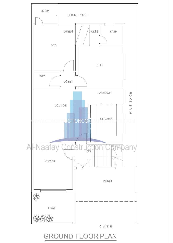 10 marla house designing map naqsha