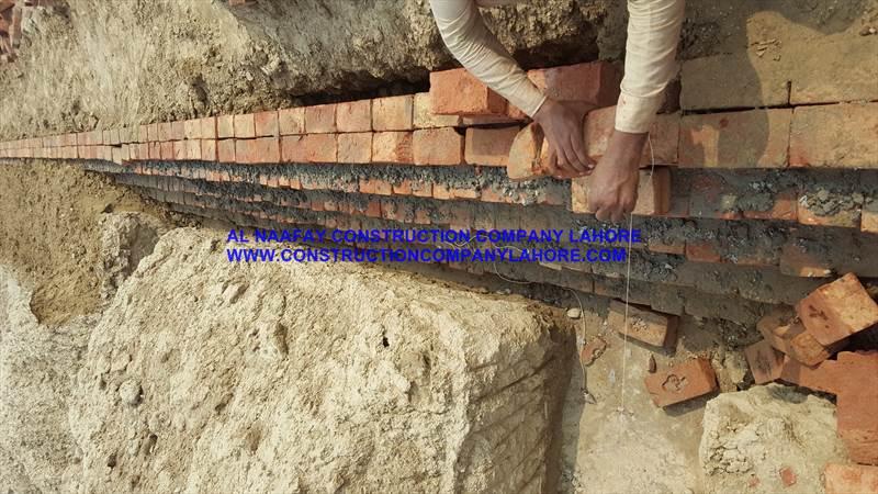 Brick work of foundation