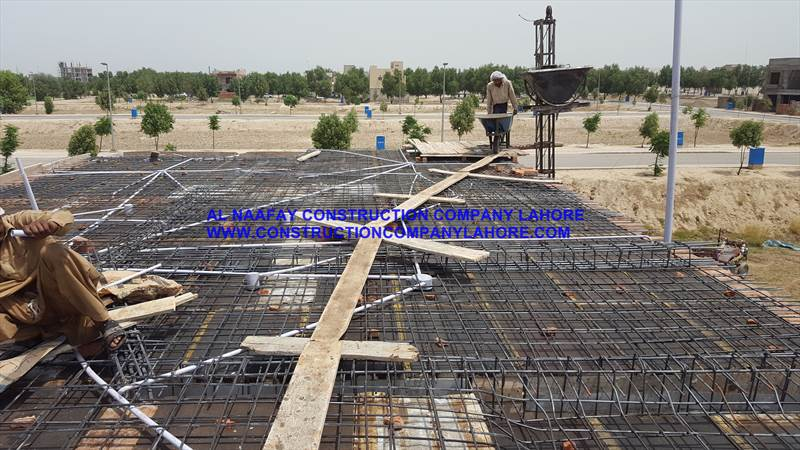 Steel Binding for slabs Lentil roof