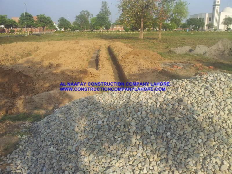 Gravel use for Foundation