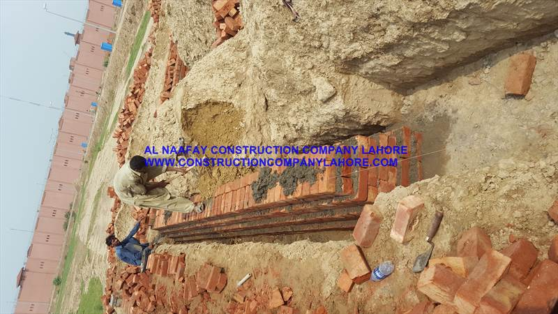 Foundation work from NSL Brick work