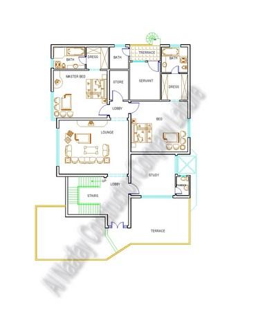 1 kanal floor plan first floor