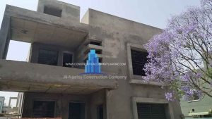 grey structure house construction cost of 10 marla in lahore