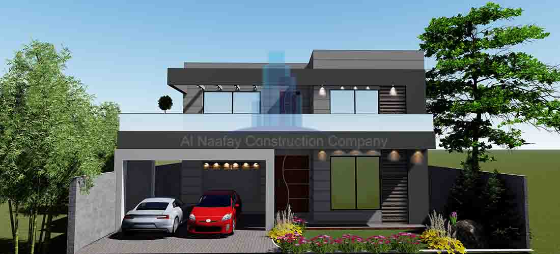 1 kanal house map 3D front elevatoin